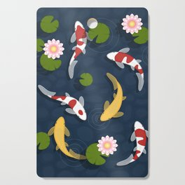 Japanese Koi Fish Pond Cutting Board