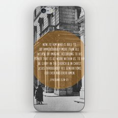 Ephesians 3:20-21 iPhone & iPod Skin