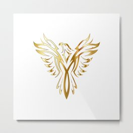 Legendary Gold Phoenix Metal Print