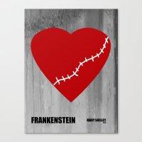 frankenstein Canvas Prints featuring Frankenstein by PA Melvin