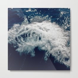 LAKE HURON WAVE Metal Print