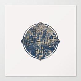 Blue Squircle Canvas Print