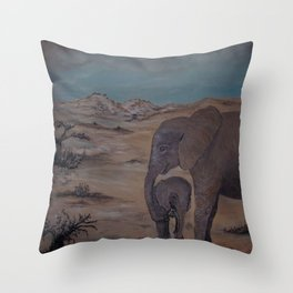 Sities and Sugala, orphans of the wild Throw Pillow