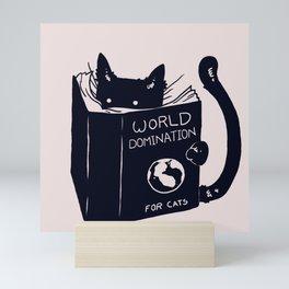 World Domination For Cats Mini Art Print