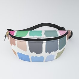 Abstract colorful palette watercolor brushstrokes Fanny Pack