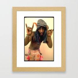George Clinton_Cool Cat Framed Art Print