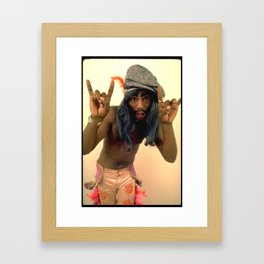 George Clinton_Cool Cat Framed Art Print