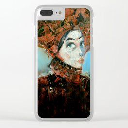 Dama Cosmopolita Clear iPhone Case