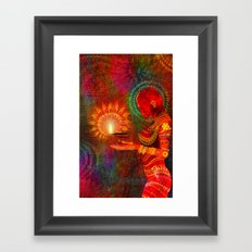 Festival of Lights Framed Art Print