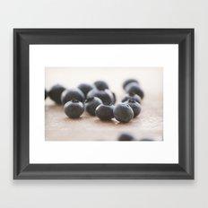 Blue Fruit Framed Art Print