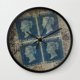 Postcard from the past Wall Clock