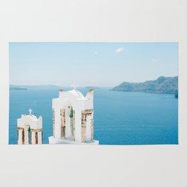 Church on Santorini Island Greece Oia Rug