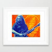 grateful dead Framed Art Prints featuring Jerry Garcia - The Grateful Dead by Tipsy Monkey