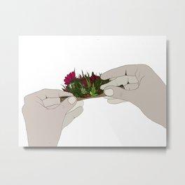 Floral Blunt Roll Metal Print