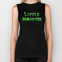 Little Monster (dark bg) Biker Tank
