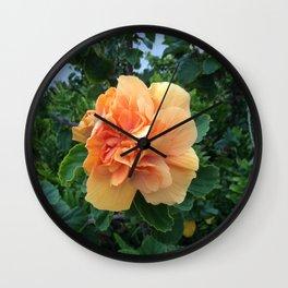 Peachy Flower Wall Clock