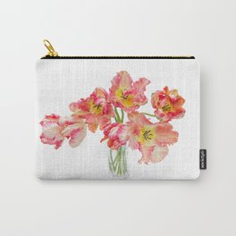Parrot Tulips in a Glass Vase Carry-All Pouch