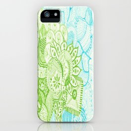 Blue Green Tangle iPhone Case