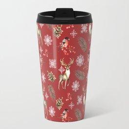 Deer and bullfinches Travel Mug