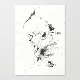 Human = Garbage Canvas Print