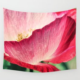 Red Poppy in Sunlight Wall Tapestry