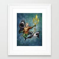 aquaman Framed Art Prints featuring Aquaman by Alex Heuchert