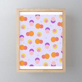 colorful circle pattern Framed Mini Art Print