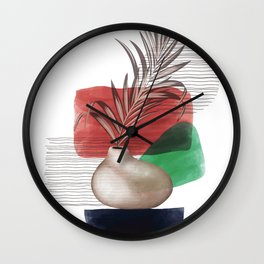High Detailed Boho Tropical Palm Leaf Wall Clock