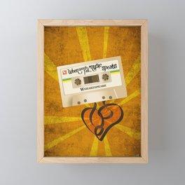 when words fail, music speaks. will shakespeare Framed Mini Art Print
