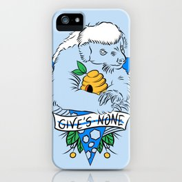 honey badger in blue iPhone Case