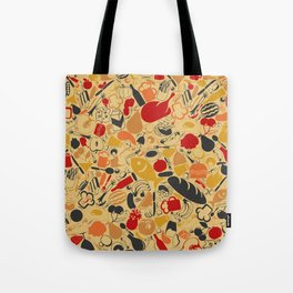 Food a background Tote Bag