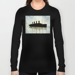 Titanic watercolour Long Sleeve T-shirt
