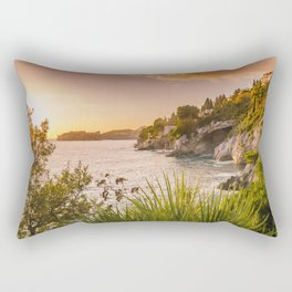 Magic sunset over Dubrovnik Rectangular Pillow