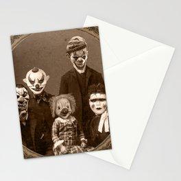 Creepy Clown Family Halloween Stationery Cards