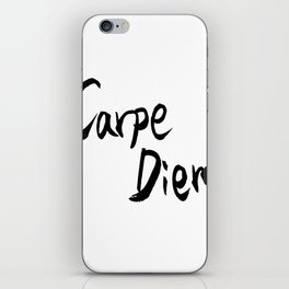 Carpe Diem Black character iPhone Skin