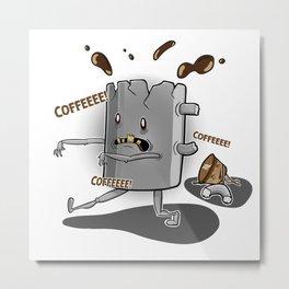 The walking mug Metal Print