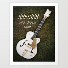 Gretsch  White Falcon 1957 Art Print