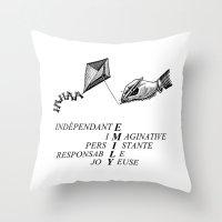 emily rickard Throw Pillows featuring EMILY by mynameisemily