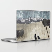 skiing Laptop & iPad Skins featuring Skiing by Stag Prints