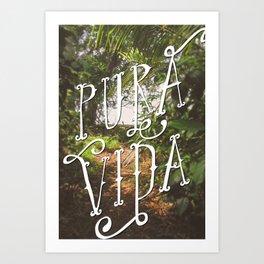 Pura Vida Costa Rica Jungle Life Caribbean Type Art Print