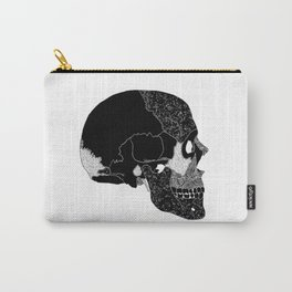 The Beauty of Human Bones // Black and White Skull // Skull Illustration with Texture Carry-All Pouch