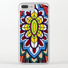 Tribal ceremonial mask Clear iPhone Case