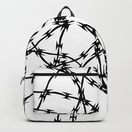 Trapped Black on White Backpack