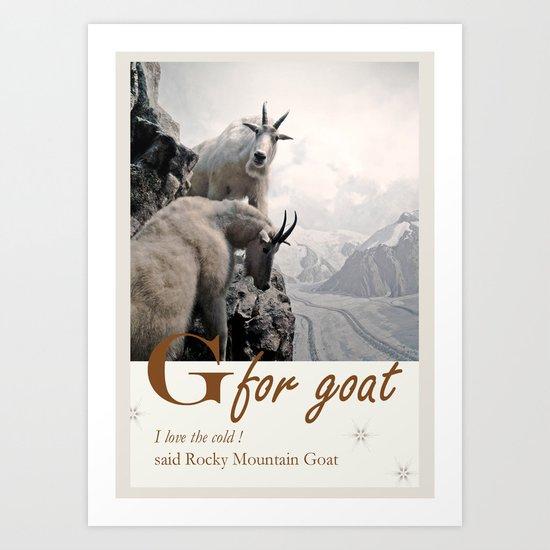 G for Goats Art Print