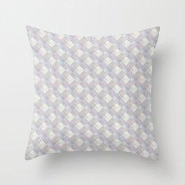 Light purple rhombuses. Throw Pillow