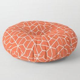 Red hexagons Floor Pillow