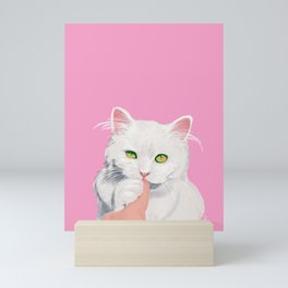 Naughty Cat Mini Art Print