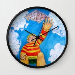Round Boy Wall Clock