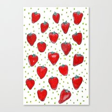 Strawberries Celebration Canvas Print