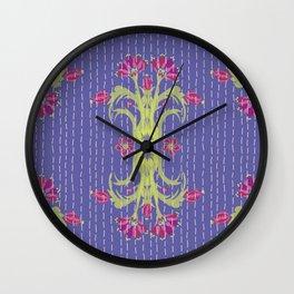Kantha Bouquet 6 Wall Clock